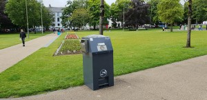 PEL120SSB - SolarStreetBin in Eyre Square Galway