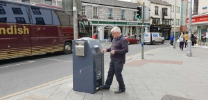 PEL120SSB - SolarStreetBin in use in Eyre Square Galway