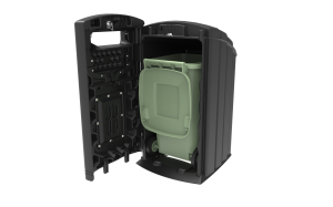 Ebank 240L Open inc. wheelie bin1