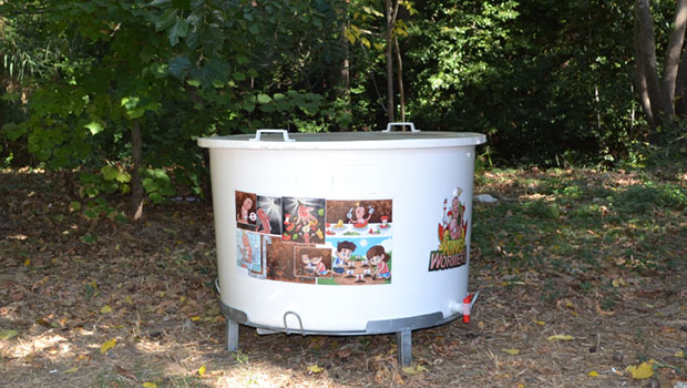 Composting bin for Schools King Wormery 400Lt