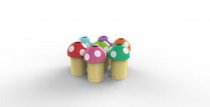 Recycling bin Mushroom