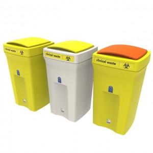 Envirobin 100 Clinical Waste Bins Lift Lids English - SQ