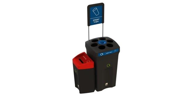 Κάδος Ανακύκλωσης Envirobin HUB με 2 ρεύματα