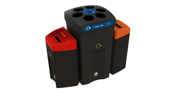 Κάδος Ανακύκλωσης Envirobin HUB με 3 ρεύματα