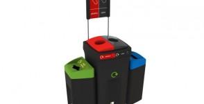 Κάδος Ανακύκλωσης Envirobin HUB με 4 ρεύματα