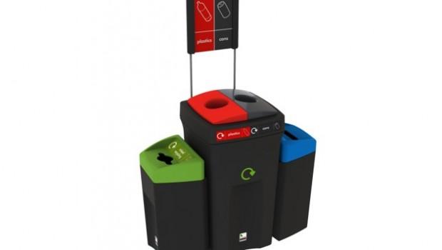 Recycling bin Envirobin HUB with 4 streams