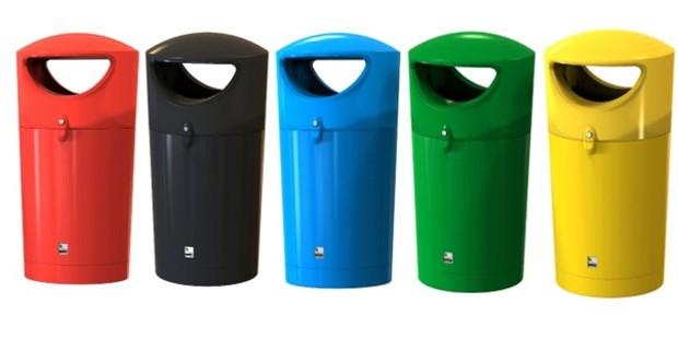 Recycling bin Metro Hooded